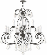 Livex 50770-92 Donatella English Bronze Ceiling Chandelier
