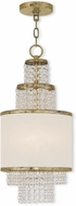 Livex 50780-28 Prescott Hand Applied Winter Gold Mini Hanging Chandelier