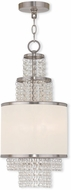 Livex 50780-91 Prescott Brushed Nickel Mini Chandelier Light