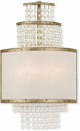 Livex 50782-28 Prescott Hand Applied Winter Gold ADA Wall Lighting