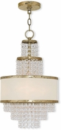 Livex 50783-28 Prescott Hand Applied Winter Gold Mini Chandelier Lighting