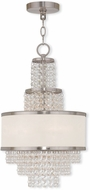 Livex 50783-91 Prescott Brushed Nickel Mini Lighting Chandelier