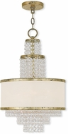 Livex 50784-28 Prescott Hand Applied Winter Gold Mini Chandelier Lamp