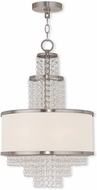 Livex 50784-91 Prescott Brushed Nickel Mini Chandelier Light
