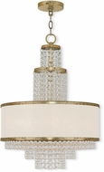 Livex 50785-28 Prescott Hand Applied Winter Gold Mini Ceiling Chandelier