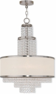 Livex 50785-91 Prescott Brushed Nickel Mini Hanging Chandelier