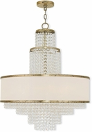 Livex 50786-28 Prescott Hand Applied Winter Gold Mini Chandelier Light