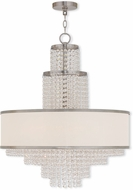 Livex 50786-91 Prescott Brushed Nickel Mini Chandelier Lighting