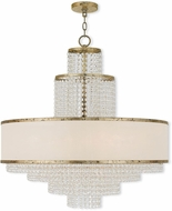 Livex 50788-28 Prescott Hand Applied Winter Gold Lighting Chandelier