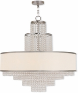 Livex 50788-91 Prescott Brushed Nickel Chandelier Lamp