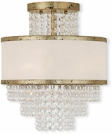 Livex 50793-28 Prescott Hand Applied Winter Gold Ceiling Lighting Fixture