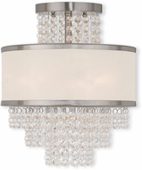 Livex 50793-91 Prescott Brushed Nickel Ceiling Light Fixture