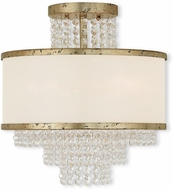 Livex 50794-28 Prescott Hand Applied Winter Gold Flush Lighting