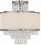 Livex 50794-91 Prescott Brushed Nickel Flush Mount Lighting