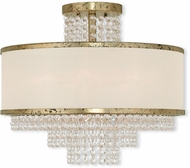 Livex 50795-28 Prescott Hand Applied Winter Gold Overhead Lighting