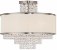 Livex 50795-91 Prescott Brushed Nickel Flush Mount Light Fixture