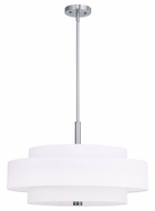 Livex 50875-91 Meridian  Brushed Nickel Drum Hanging Light Fixture