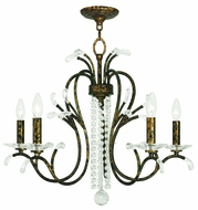 Livex 51005-71 Serafina Hand Applied Venetian Golden Bronze Hanging Chandelier