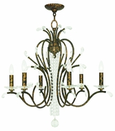 Livex 51006-71 Serafina Hand Applied Venetian Golden Bronze Chandelier Lighting