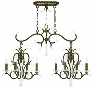 Livex 51007-71 Serafina Hand Applied Venetian Golden Bronze Kitchen Island Light Fixture