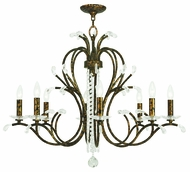 Livex 51008-71 Serafina Hand Applied Venetian Golden Bronze Chandelier Lamp