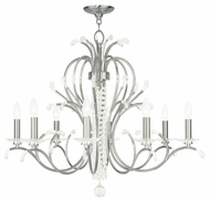 Livex 51008-91 Serafina Brushed Nickel Chandelier Light
