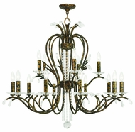 Livex 51009-71 Serafina Hand Applied Venetian Golden Bronze Ceiling Chandelier