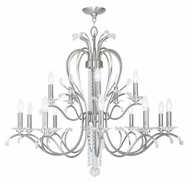 Livex 51009-91 Serafina Brushed Nickel Hanging Chandelier
