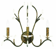 Livex 51013-71 Serafina Hand Applied Venetian Golden Bronze Wall Light Sconce