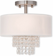 Livex 51025-91 Carlisle Brushed Nickel 11  Overhead Lighting Fixture