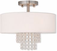 Livex 51026-91 Carlisle Brushed Nickel 13  Ceiling Lighting