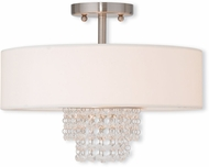 Livex 51027-91 Carlisle Brushed Nickel 15  Ceiling Light