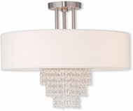 Livex 51028-91 Carlisle Brushed Nickel 18  Ceiling Light Fixture