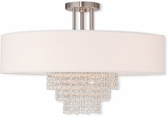 Livex 51029-91 Carlisle Brushed Nickel 22  Ceiling Lighting Fixture