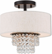 Livex 51094-92 Carlisle English Bronze 11  Flush Mount Ceiling Light Fixture