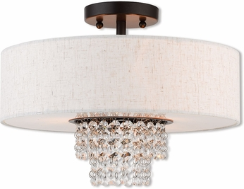 Livex 51096-92 Carlisle English Bronze 15  Overhead Light Fixture
