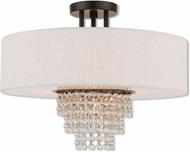Livex 51097-92 Carlisle English Bronze 18  Overhead Lighting Fixture