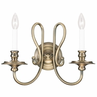 Livex 5162-01 Caldwell Antique Brass Light Sconce