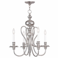 Livex 5164-35 Caldwell Polished Nickel Mini Chandelier Lighting