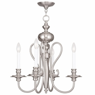 Livex 5164-91 Caldwell Brushed Nickel Mini Lighting Chandelier