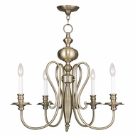 Livex 5165-01 Caldwell Antique Brass Chandelier Lamp