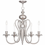 Livex 5165-91 Caldwell Brushed Nickel Ceiling Chandelier