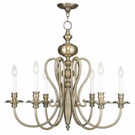 Livex 5166-01 Caldwell Antique Brass Hanging Chandelier