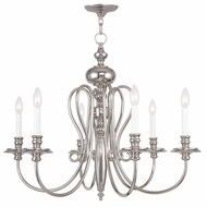 Livex 5166-35 Caldwell Polished Nickel Chandelier Light