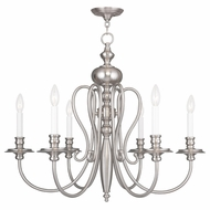 Livex 5166-91 Caldwell Brushed Nickel Chandelier Lighting