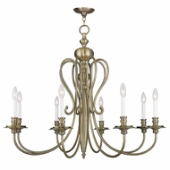Livex 5168-01 Caldwell Antique Brass Lighting Chandelier