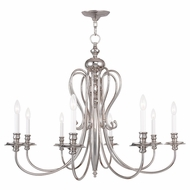 Livex 5168-35 Caldwell Polished Nickel Chandelier Lamp