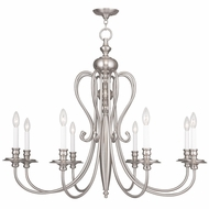 Livex 5168-91 Caldwell Brushed Nickel Chandelier Light