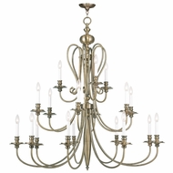 Livex 5179-01 Caldwell Antique Brass Ceiling Chandelier