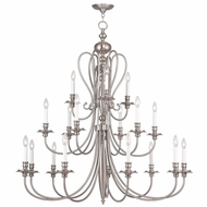 Livex 5179-91 Caldwell Brushed Nickel Hanging Chandelier